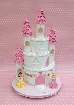 Princess Castle Cake - Cake by The Crafty Kitchen - Sarah Garland