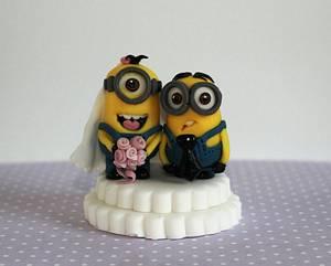 Minion wedding couple - Cake by Zoe's Fancy Cakes
