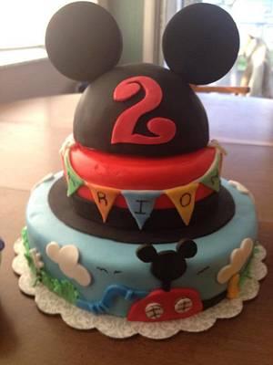 Mickey cake  - Cake by Samantha Corey