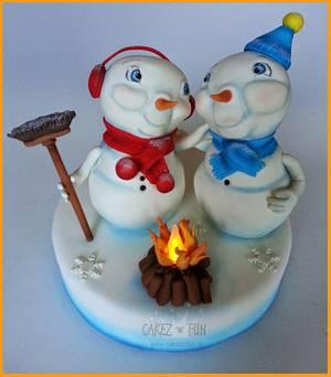 Frosty Friends - Cake by Dirk Luchtmeijer