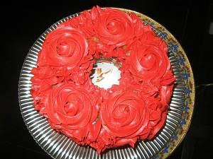 "Rose ""Trial"" Cake - Cake by Fun Fiesta Cakes"