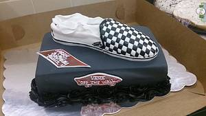 Vans Checkered Shoe Cake - Cake by Allyson Thornley