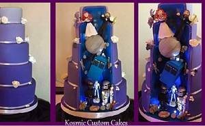 Wedding Hidden Scene - Epic Geek - Cake by Kosmic Custom Cakes