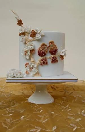 Birds as jewellery - Cake by Katarzynka