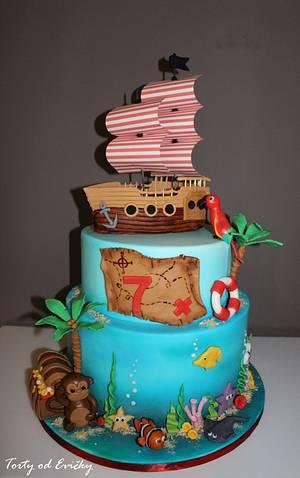 Pirate cake  - Cake by Cakes by Evička