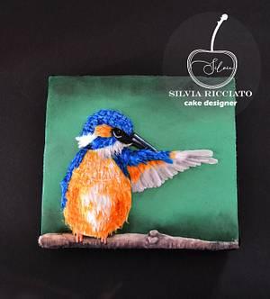 Kingfisher bird  Magnificent Bangladesh  - Cake by Silvia Ricciato