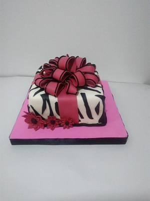 Torta Moño y Flores - Cake by Tata Postres y Tortas
