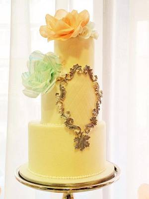 Vintage inspired wedding cake and sweetbar, Bomton Press Event - Cake by PunkRockCakes