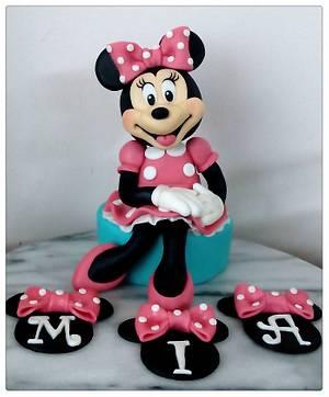 Minnie para Mia - Cake by Alejandra Aguirre (Mamá Ganso)