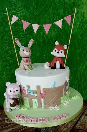 Summer Lily - Woodland Christening Cake  - Cake by Niamh Geraghty, Perfectionist Confectionist