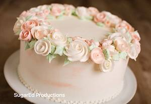 Floral Wreath Cake - Cake by Sharon Zambito