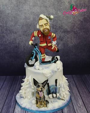 rescuer and australian cattle dog - Cake by crazycakes