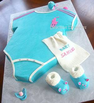 Gender Reveal Onesie Cake - Cake by DeliciousDeliveries