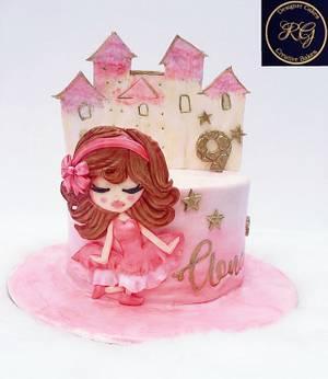 Pink Princess cake - Cake by Radha's Bespoke Bakes