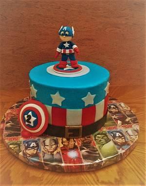 Captain America cake - Cake by Tareli