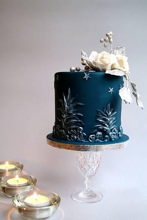Navy blue - Cake by Katarzynka