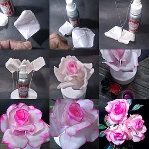 Wafer paper roses  - Cake by Daniel Guiriba