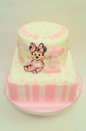 minnie mouse baby - Cake by Cakey Barmy