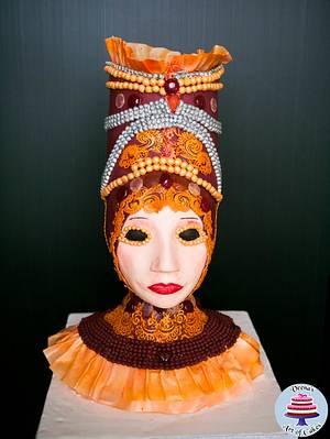 Carnival Venetian Queen - Cake by Veenas Art of Cakes