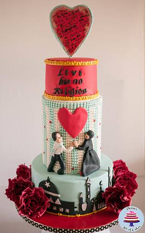Be My Valentine Cake (Collaboration)  - Cake by Veenas Art of Cakes