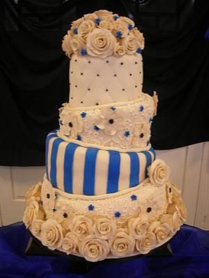 Topsy Turvy Wedding Cake - Cake by Deanna Dunn