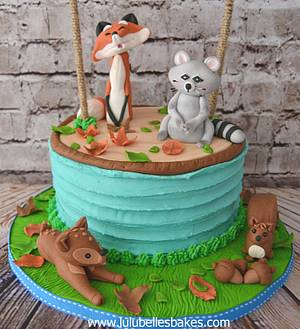 Forest Friends - Cake by Lulubelle's Bakes