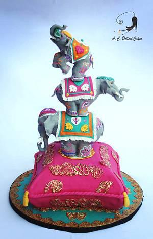 Indian inspiration Hindu Cake. - Cake by Artym