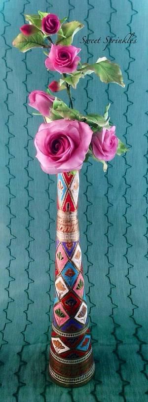 Edible Roses - Cake by Deepa Pathmanathan