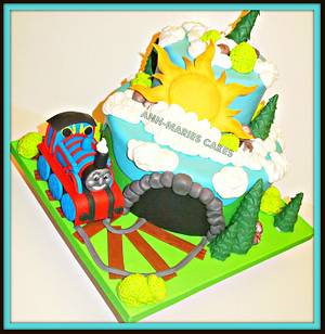 Thomas and the Misty mountain - Cake by Ann-Marie Youngblood