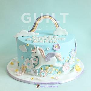 Unicorn Cake - Cake by Guilt Desserts