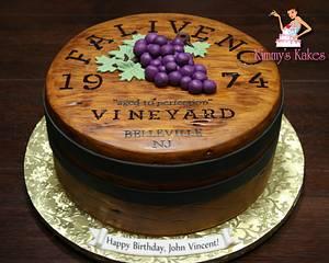 Wine barrel top - Cake by Kimmy's Kakes