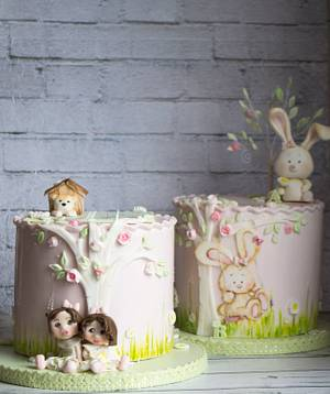 Cakes for twins - Cake by Vanilla & Me