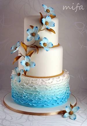 Something blue... - Cake by Michaela Fajmanova