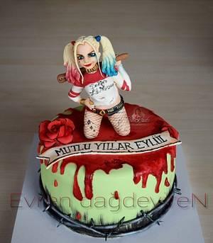 Harley Quinn Cake - Cake by Evren Dagdeviren