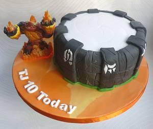 My 1st Cake ... Skylanders Portal of Power - Cake by Cookie Delicious