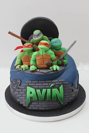 Ninja Turtle Cake - Cake by Artym