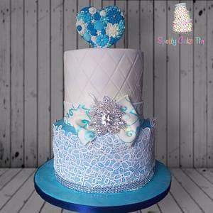 18th Birthday Cake - Cake by Shell at Spotty Cake Tin