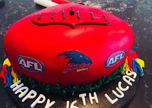 Footy cake - Cake by Cakesters