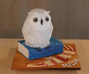 Hedwig Owl sculpted cake - Cake by Leslie Grant