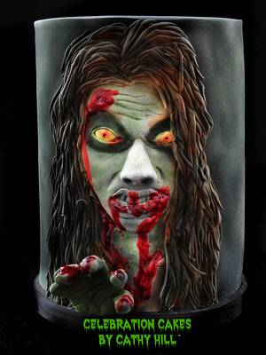 Zombie girl - The Sugar Zombies Collaboration - Cake by Celebration Cakes by Cathy Hill
