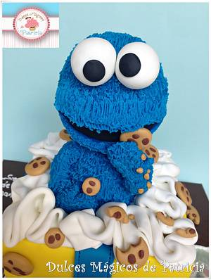 Cookie monster cake!!! - Cake by Dulces Mágicos de Patricia