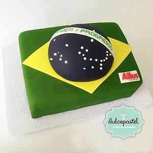 Torta Brasil - Brazil Cake - Allus - Cake by Dulcepastel.com