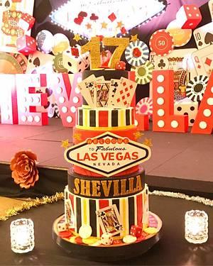 Las Vegas birthday  - Cake by Astried