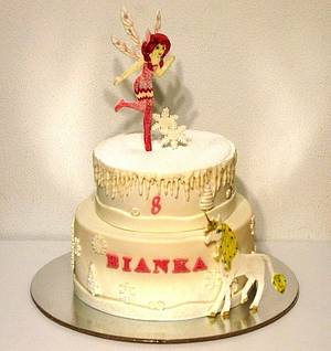 Mia and Me in winter - Cake by Framona cakes ( Cakes by Monika)