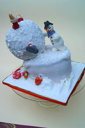 Playing in the snow (Santa Claus survived) - Cake by Katarzynka