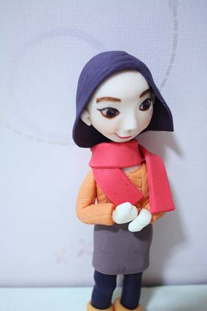 winter girl :) - Cake by fantasticake by mihyun