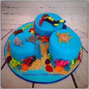 Scuba cake - Cake by Chantelle's Cake Creations