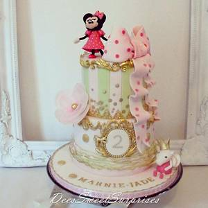 2 tier Minnie and Peppa birthday cake - Cake by Dee