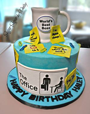 """The Office"" Birthday Cake - Cake by Sandra Smiley"