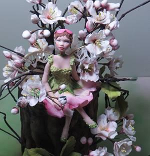Cherry Blossom Fairy - Cake by Calli Creations
